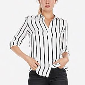 Express Black and White City Shirt